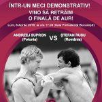 STEFAN RUSU (Romania) vs. ANDREZJ SUPRON (Polonia) 2019